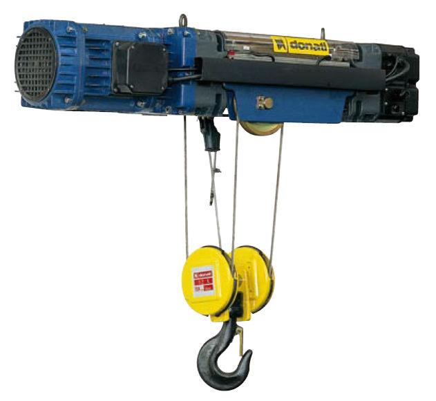 Paranco elettrico a fune donati for Paranco elettrico usato